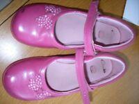 Girls Clarks Pink Shoes 12F Flashing Lights