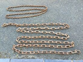 2 lengths of marine chain, ideal for dock mooring