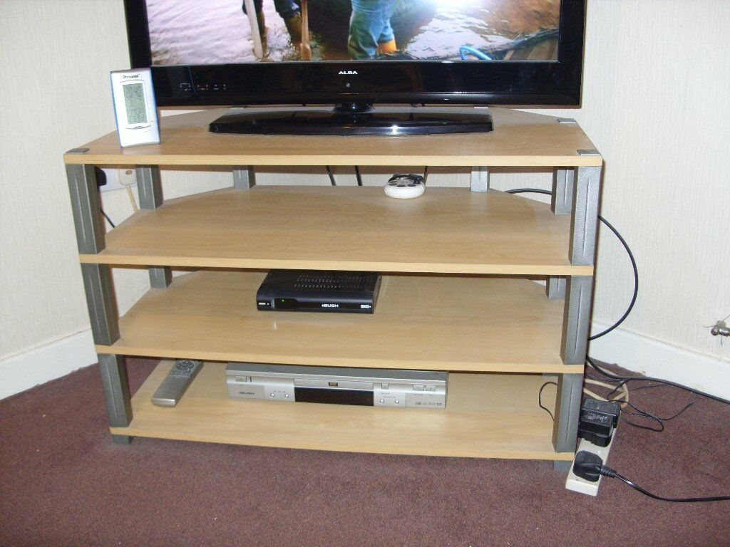 4 tier tv stand as new beech colour