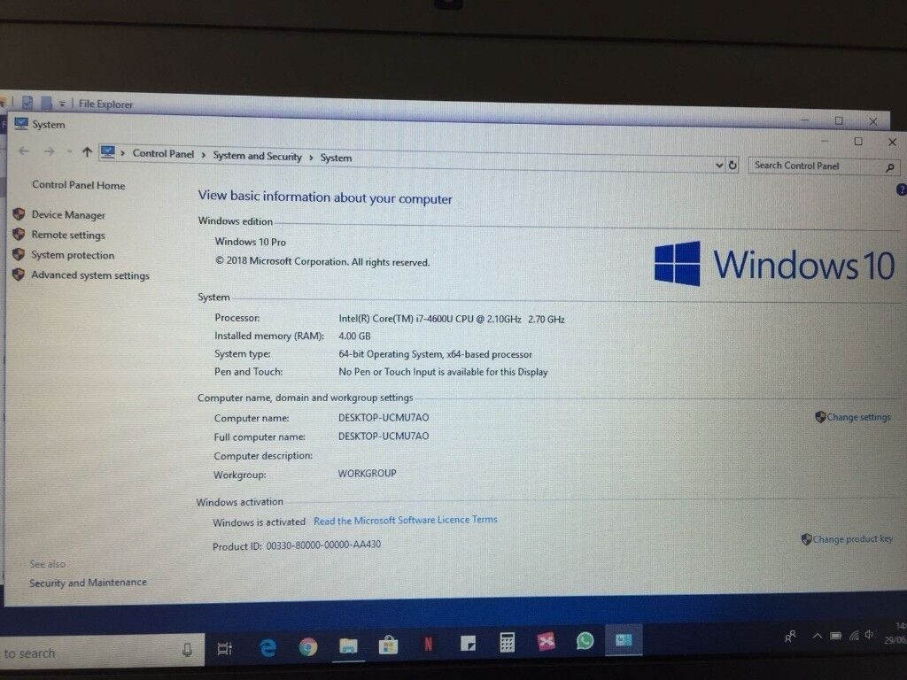 dell latitude e7240 windows 8.1 product key