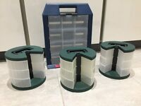 Four Storage Containers/Organisers ideal for Crafts, Hobbies or DIY