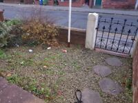 Handyman wanted in Stockport to tidy up front yard