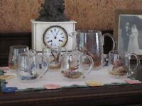 Pheasant Antique Drinking Glass Set