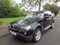 2007 BMW X3 2.0d se_Full Service History_6 speed_Manual_Black_5 Door_12 Months MOT_Parking sensors