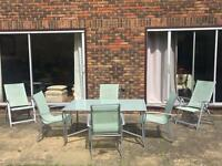 Outdoor all weathered table with chairs