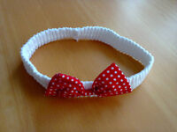 3-6 Months Girl's White and Red Headband