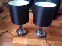 Pair of Black Touch Table Lamps