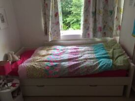 Child's Stompa single day bed with pull out trundle