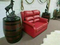 2 Seater Leather Sofa (100% Real Leather)