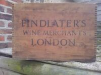 Old large pine London wine crate. Portsmouth, North End.