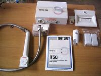 Triton T50 electric shower kit, with installation instructions, shower fixtures