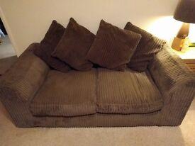 Chocolate Chenille cord sofa