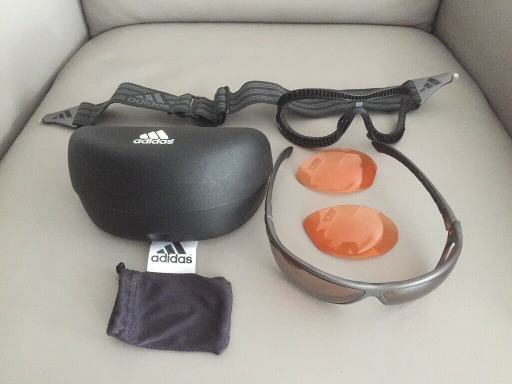 ADIDAS SKI AND SUN GLASSES WITH INTERCHANGEABLE LENSES