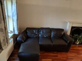 Brown Leather Sofas - 2 seater and 3 seater, sold separate or together