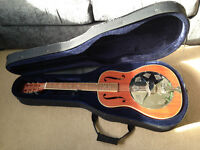 Ashbury AR-39 Solid mahogany resonator/slide guitar as new with fitted case