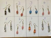 Handmade earings. Crystal etc,Christmas gifts,stocking fillers.