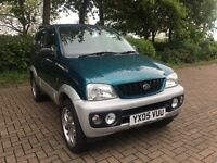 2005 05 DAIHATSU TERIOS SPORT 1.3 PETROL MANUAL 4 WHEEL DRIVE