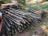 Picket fencing. Fence posts and wiring, come chicken wire. About 15-20 meters. Collection Nottingham