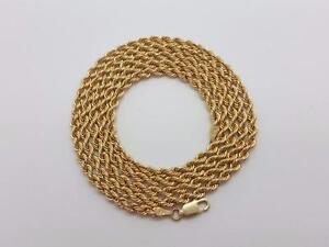 Torsade en or 10 karat Neuf toute les grandeurs / Rope chain 10 karat gold all lenght all Sizes