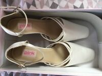 Brand new ivory satin shoes, size 37.5
