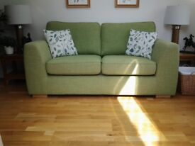 Light green three seater sofa