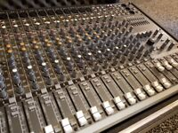 Used Mackie CFX 16 MKII 16 channel mixer with swan flight case