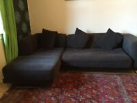 Charcole corner sofa set, quick sale!! £30 good condition.