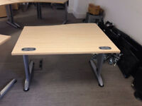 professional office desk wave Senator 120cm