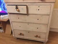 Victorian antique chest of drawers shabby chic project