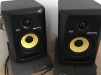 KRK Rokit RP5 G3 Active Studio Monitors Kit - Cables and isolation pads included.