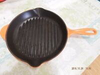 Le Creuset 26cm Cast Iron Griddle Pan in Volcanic Orange