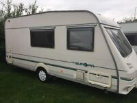 Sterling Europa 4 Birth Touring Caravan in Beautiful Condition with End Bathroom & Walk in Shower
