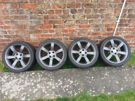 """16""""anthacite mag wheels for mgf x4, no damage, paint has crazed, tyres are below limit"""