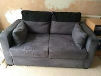 Sofa Bed 2 Seater Charcoal Fabric