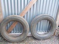 2 avon vintage car tyres