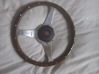 Genuine Moto Lita wooden steering wheel for MGBGT as new condition withh all fixings £120 ono