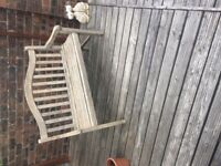 Traditional solid hard wood garden bench seat