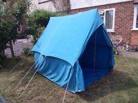 vintage scouts canvas ridge 3/4 man tent