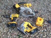 Dewalt Cordless Jigsaw, Rip Snorter, Drill XRP 18 volt