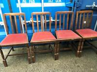 4 oak dining chairs FREE DELIVERY PLYMOUTH AREA