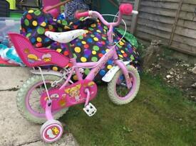 First bike girls age 3 plus 12 inch wheel not used much stabilisers