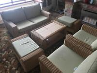 Wicker sofa set for sale