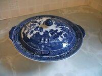 Blue Oriental Style Tureen