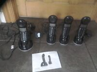 Magicbox Carnaby Digital Cordless Telephones with Answering Machine.Quad Set.£30.00