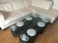 Coffee table in black with 4 stools // free delivery