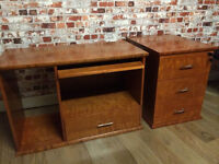 Lovely matching pedestal and matching cabinet/media unit,vgc