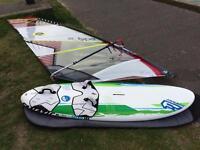 Windsurf Board and Sail Fanatic 146 North Sails e-type 5.5