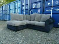 Black+Grey Corner Sofa *Good Clean Condition*