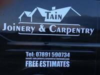Tain Joinery & Carpentry. Joiner, Carpenter, Main Contractors, House Builders, Loft Conversions Ect