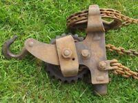 Historic chain hoist